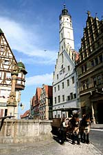 Rothenburg, Germany horses