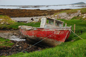 Beached boat in Connemara, Ireland