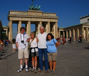 We are so pleased to welcome back Tim S. and his family for their third trip with us since 2005. We will be visiting Berlin, Dresden, Stalag Luft 3 in Poland and Berchtesgaden among other places during their 12-day adventure, now in progress.