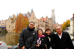 Guests from Manila in Brugges