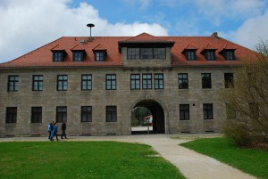 The camp administration building. &quot;Arbeit Macht Frei&quot; was the cruel lie posted near here. 