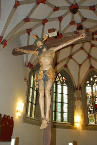 The crucifix as we know it was developed in Spain in the 14th century to punish the Jews for their mistreatment of Christ