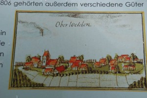 Sketch of the village from the 1600s