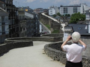 Our guest photographs the 3rd century Roman walls of Lugo, Galicia, Spain