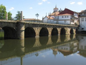 The Roman bridge dates back to the 3rd century. It still carries pedestrian traffic back and forth to both sides of the town.