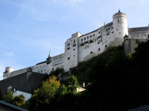 Salzburg's fortress was built to protect the town and to impose the power of the ruler, a Prince Archbishop who ruled both on earth as well as provided a conduit to heaven