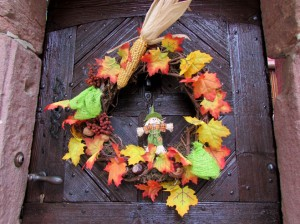 Door decoration for the season