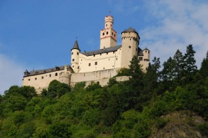 Marksburg has never been destroyed or captured in its more than 800 year history. It stands near Braubach on the northern end of the drive Dolores enjoyed after her cruise.