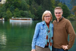 Susan and her son Andrew at the Koenigsee, near Berchtesgaden, Bavaria