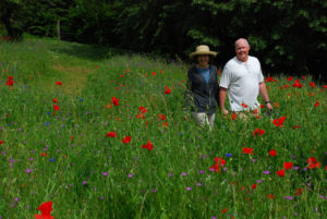 Dennis and Diane in Monet's Garden, France