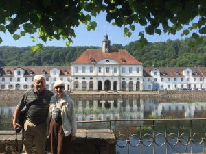 Surprising Bad Karlshafen, a spa town created in the Baroque era which is slowly moldering away. Art and Carol on their last day of their ninth trip with European Focus.