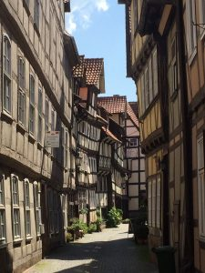 A stop to walk around half-timbered Hann. Muenden, north of Kassel as we made our way back to Frankfurt