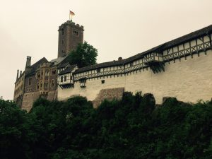 Wartburg Castle where Luther, in hiding and disguise, translated the Bible from ancient Greek into German.