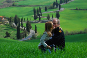 Linda and Rick in Tuscany