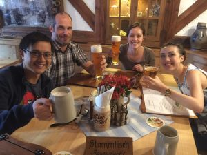 First night of their tour was in medieval Rothenburg ob der Tauber, Germany. The four Aussies had spent quality time on their own in Amsterdam and Berlin with guidance and tips from European Focus.